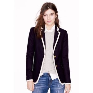 J.Crew Hacking Jacket In Tipped Double-Serge Wool